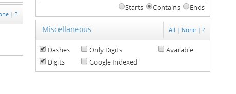 Screenshot of Available checkbox in Advanced Search Screen